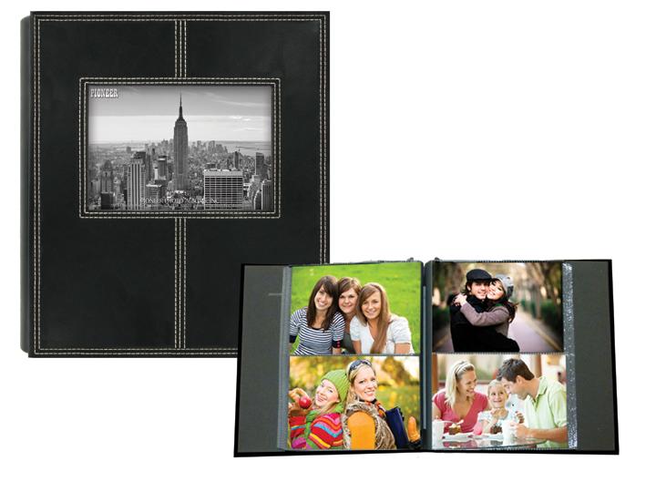 Pioneer 2 Up Sewn Frame 160 Pocket 4x6 Photo Album