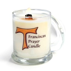 Monastery Greetings Franciscan Prayer Candle With Tau