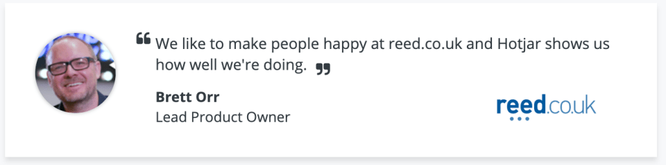 """Hotjar reviews: """"We like to make people happy... Hotjar shows us how well we are doing"""""""