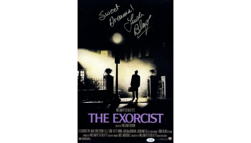 linda blair hand signed the exorcist movie poster charitystars