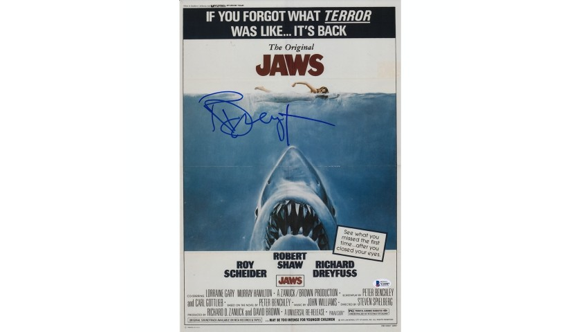richard dreyfus jaws movie poster charitystars
