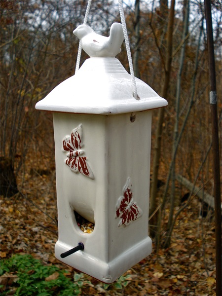 white-bird-feeder