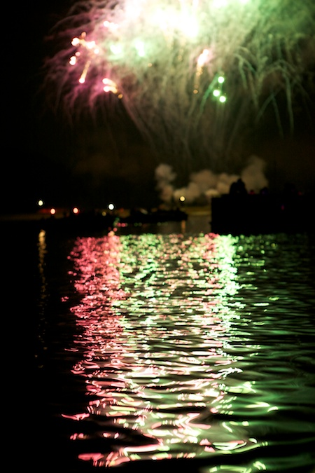 fireworks on the boat 3