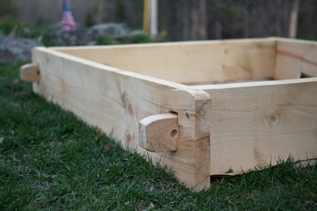 timberframed raised bed 1