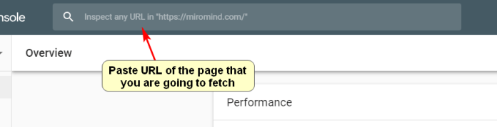 "Screenshot of how to use the ""Fetch as Google"" in Google Search Console"
