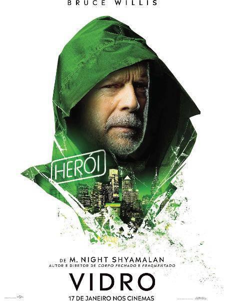 Vidro-poster-nacional Vidro | Bruce Willis é destaque no primeiro cartaz nacional; Confira!