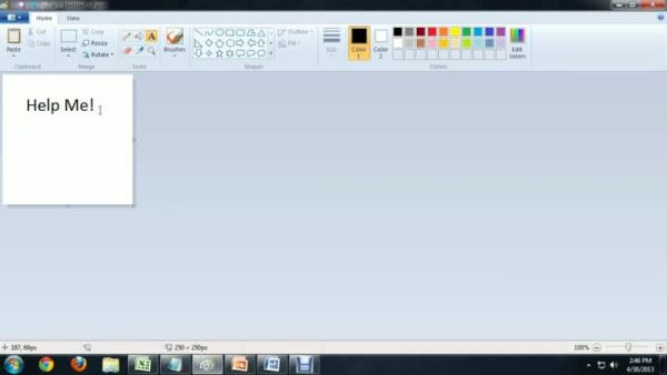 Video: How to Change the Size of Text on Microsoft Paint ...