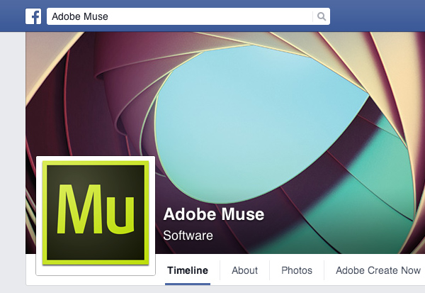 Adobe Muse on Facebook
