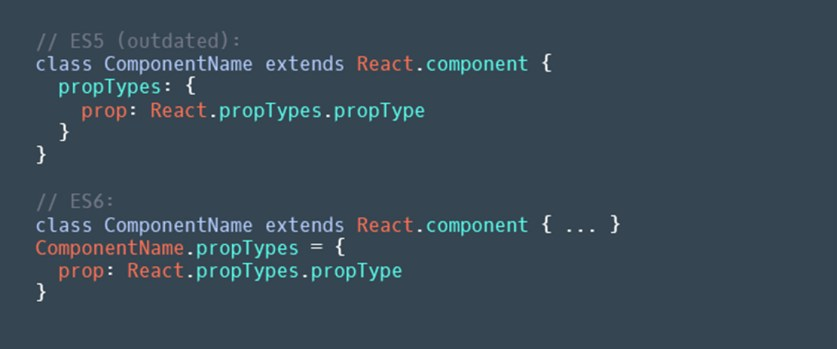 `propTypes` instance property should be replaced with static property