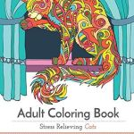 Adult Coloring Book - Stress Relieving Cats