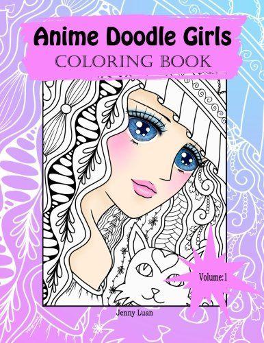 animedoodlegirls anime doodle girls coloring book review - Coloring Book For Girls