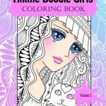 animedoodlegirls - Doodle Fusion - Adult Coloring Book Review