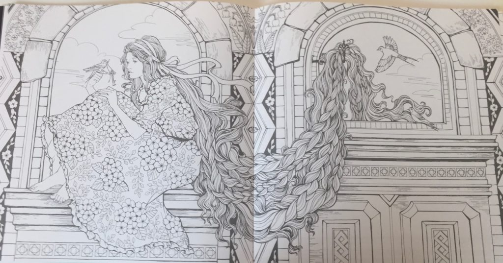 The Mysterious Library Coloring Book Korean Edition