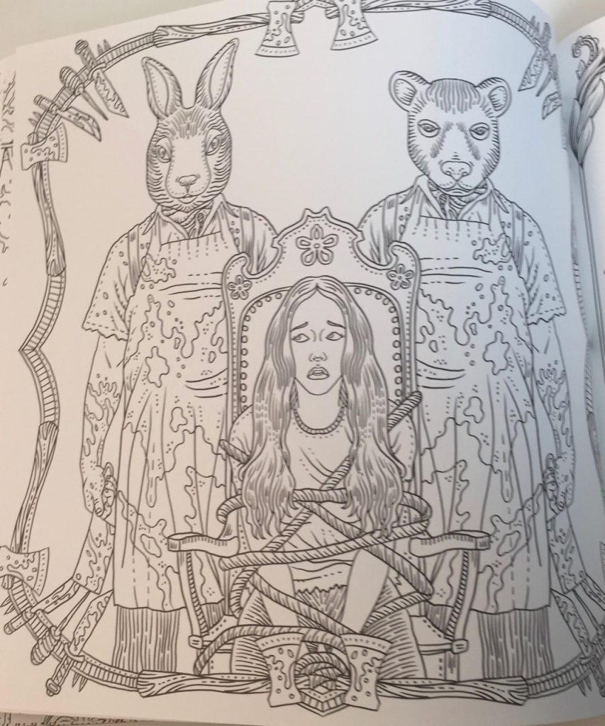 the beauty of horror a gorgeous coloring book coloring queen