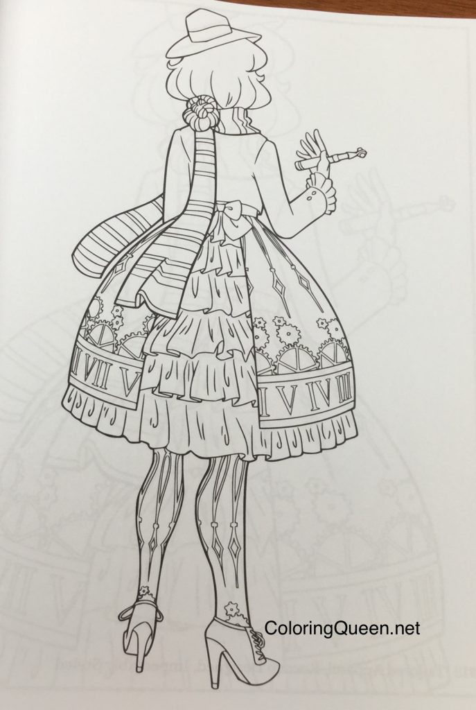 Coloring Book For Fashion : Lolita fashion coloring book for adults queen