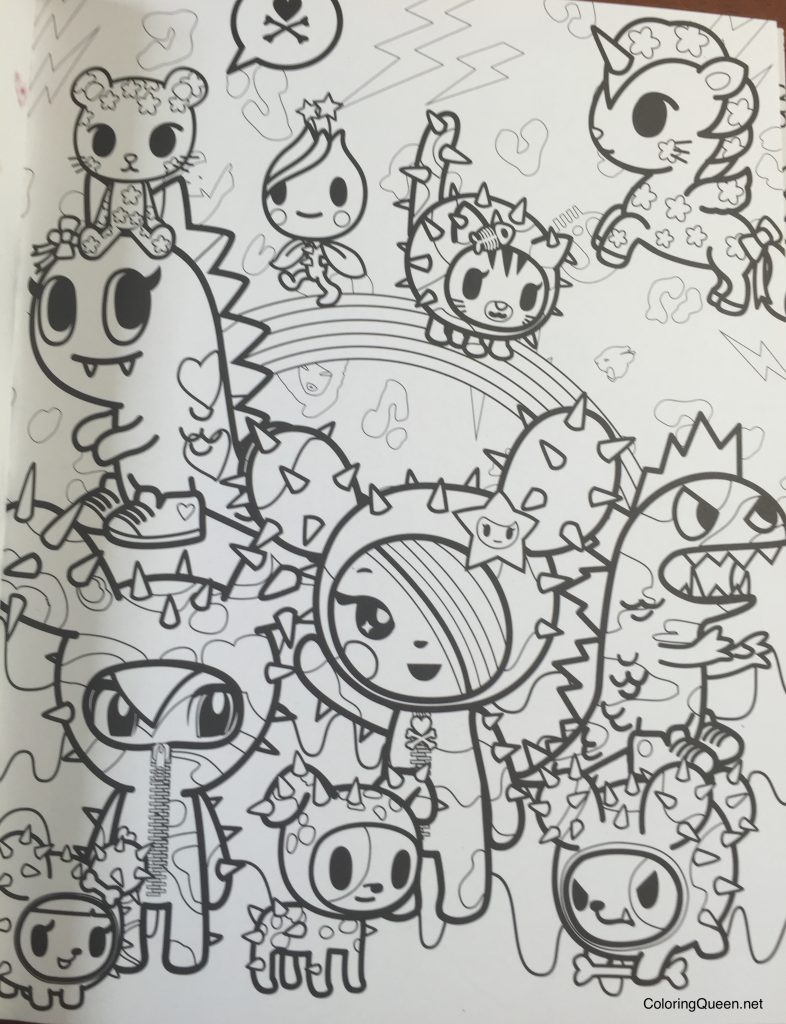 tokidoki coloring book image gallery - Tokidoki Unicorno Coloring Pages
