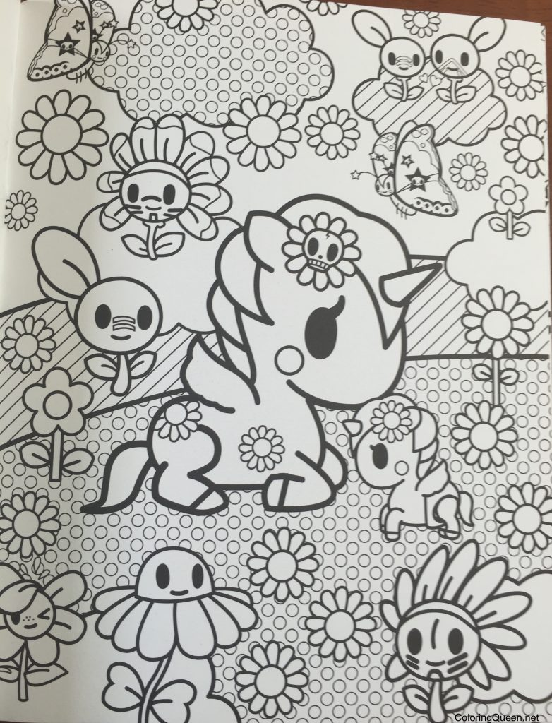 tokidoki coloring book - Tokidoki Donutella Coloring Pages