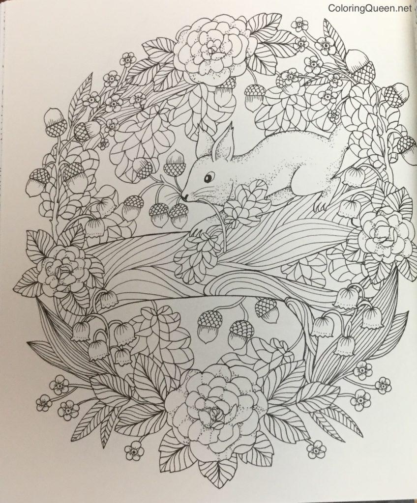 Twilight Garden Coloring Book (aka Blomster Mandala) | Coloring Queen