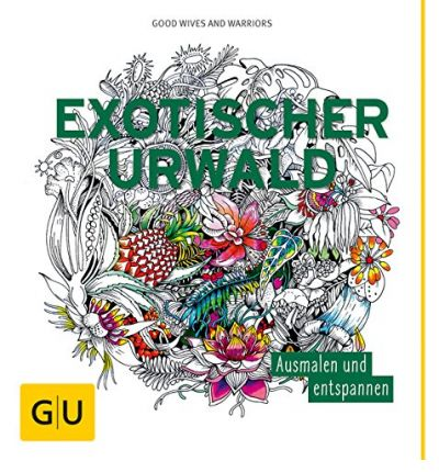 Exotischer Urwald: Ausmalen und entspannen