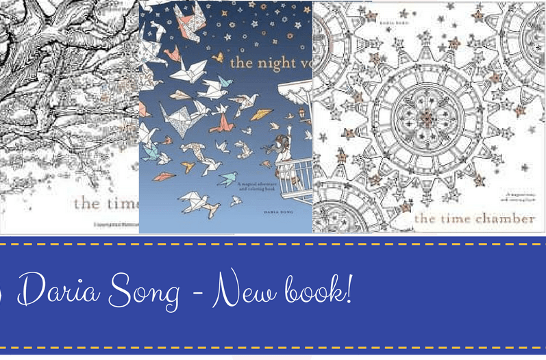Daria Song New book - The Mysterious Mansion - A New Coloring Book from Daria Song!
