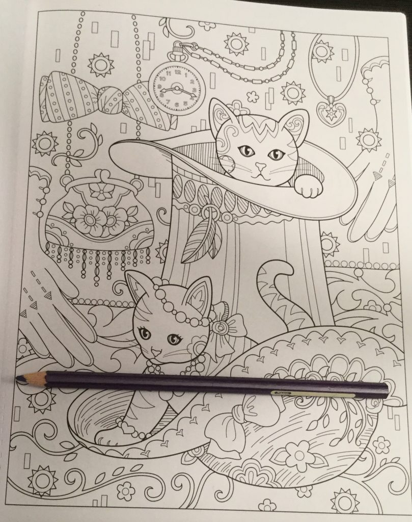 Stress relieving cats coloring - Hiding In Hats Is Fun For These Creative Kittens
