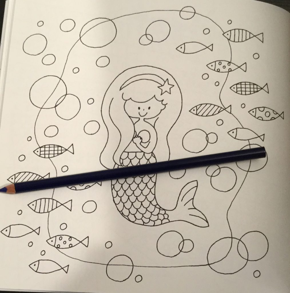 The coloring book analysis -  Book Mermaid Image In Easy Cute Japanese Colouring Mook