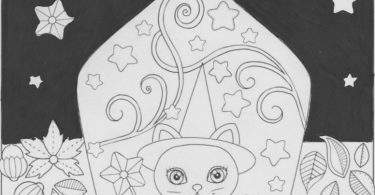 coloring page that has a black background effect on it