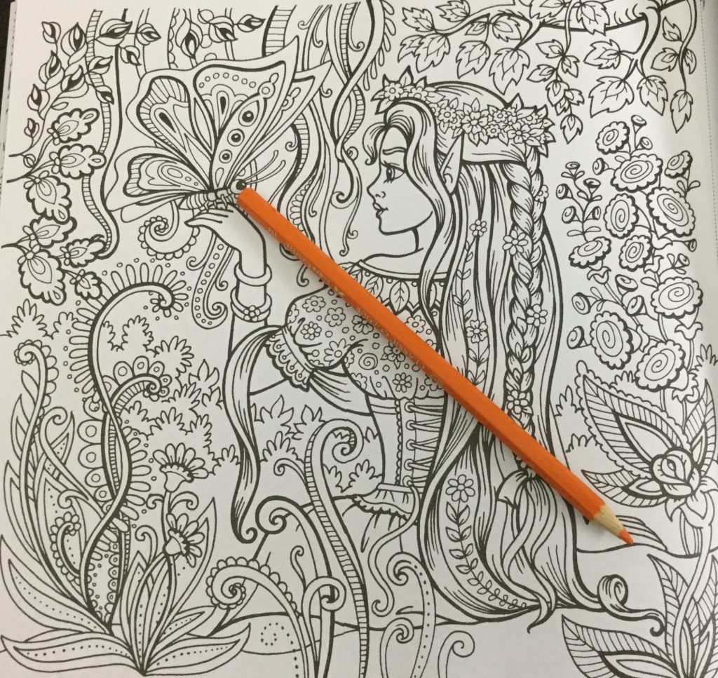 The coloring book analysis -  Girl With Long Hair Kraina Basni Polish Coloring Book View Of The