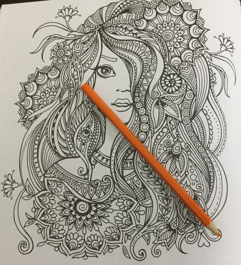 The coloring book analysis -  Girl With Elaborate Hair From Kraina Basni Polish Coloring Book