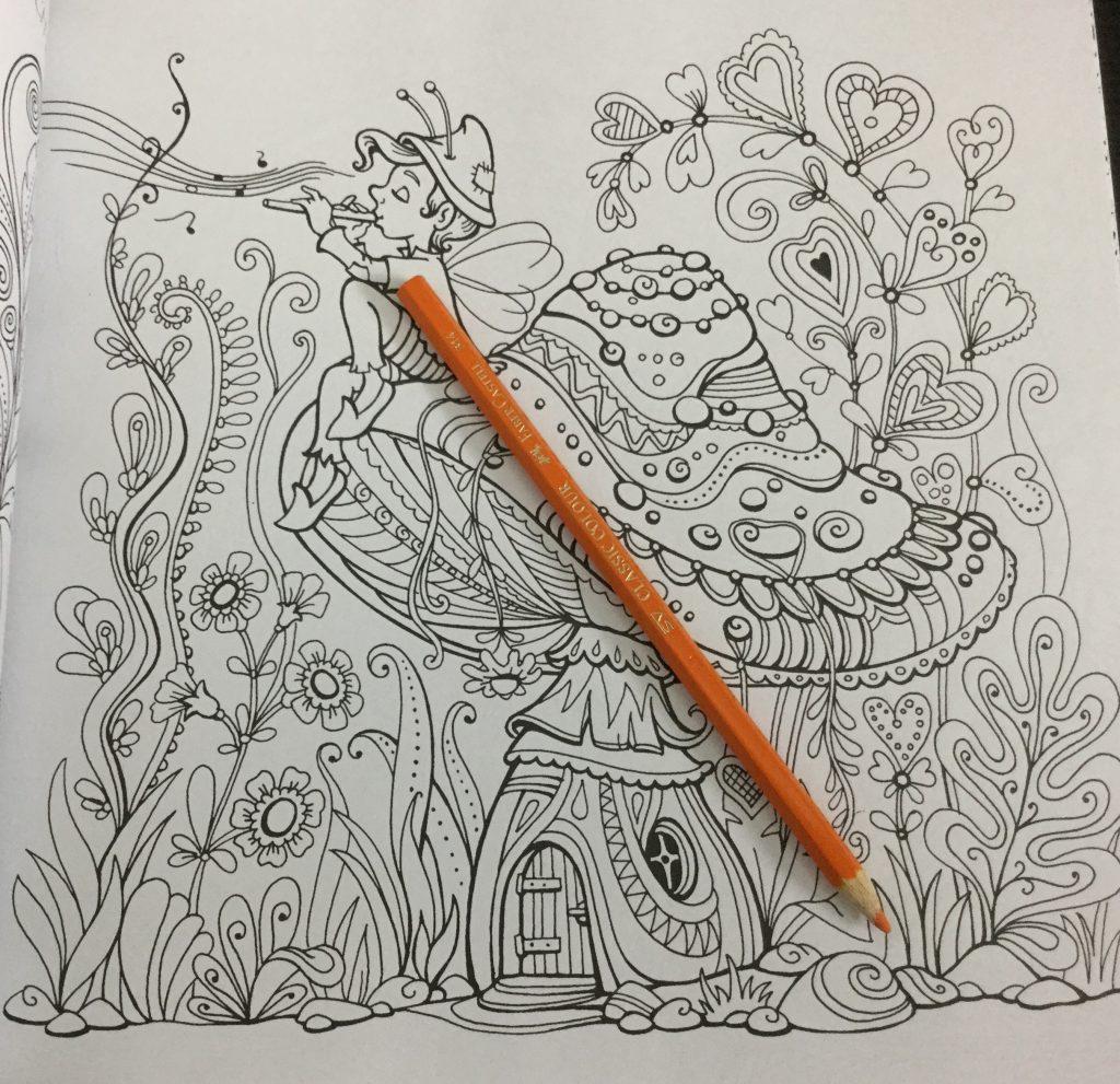 Fairy House From Kraina Basni Polish Coloring Book