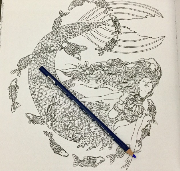 Mermaids in Wonderland Coloring Book Review17 800x600 - Mermaids in Wonderland Coloring Book Review