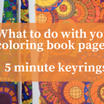 What to do with your coloring book pages  - Klara Markova Coloring Book Tutorials