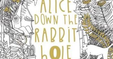 alice down the rabbit hole - Once Upon A Time Coloring Book Review