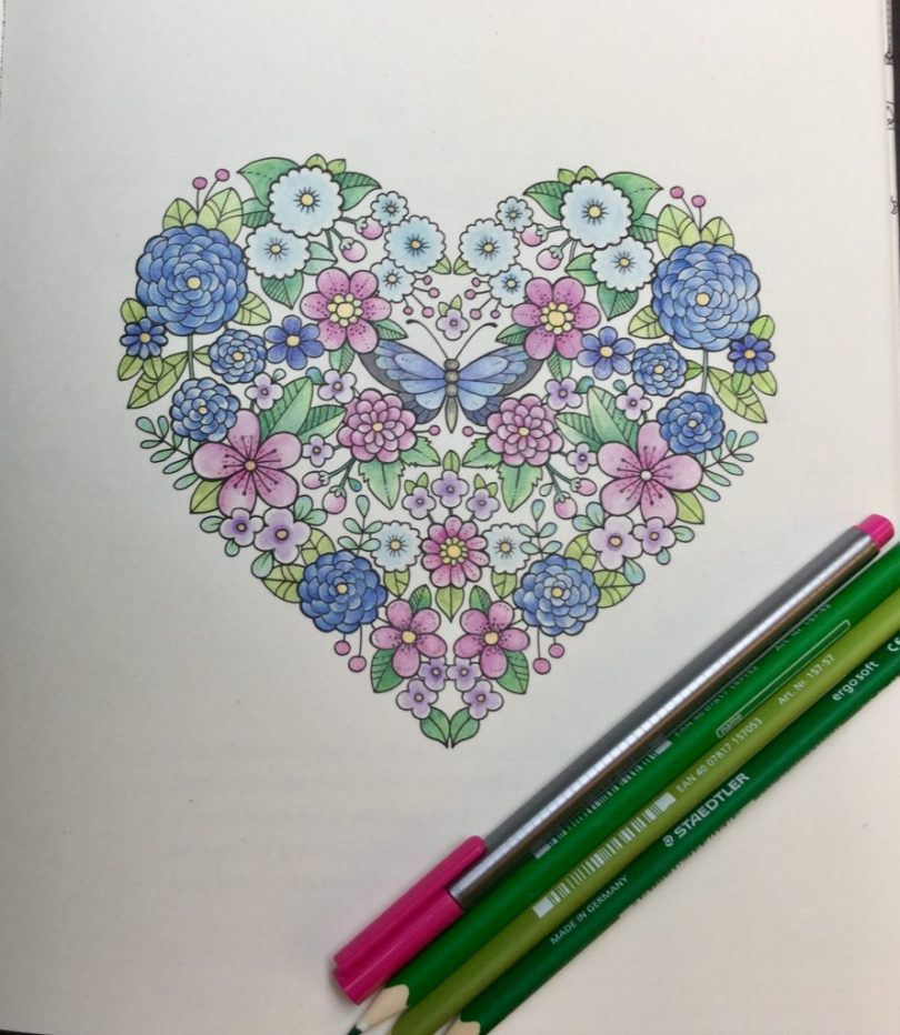 colored floral  heart from Ivy and the Inky Butterfly