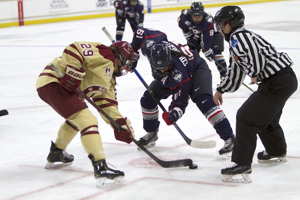 Eagles Pull Away in Third, Take Game 1 of Hockey East Quarterfinals