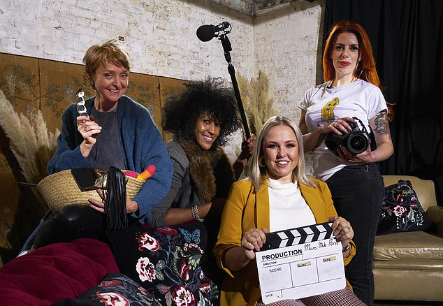 Five mothers (L to R: Emma, Anita, Sarah-Louise and Sarah) will be making their own porn film which they would be happy to let their children watch thanks to a new Channel 4 TV show called Mums Make Porn
