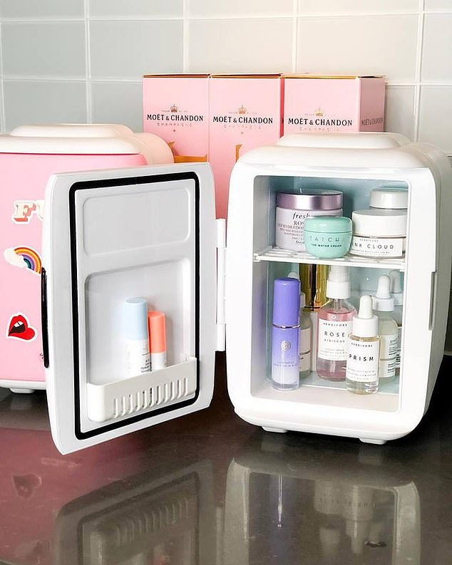 Having a mini-fridge for cosmetic products is the newest craze on Instagram (file picture)