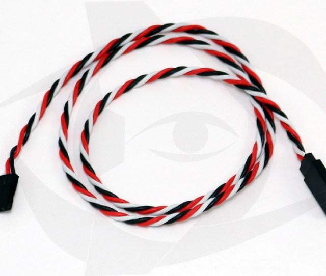 60cm 24 Inch Futaba Style 22awg Twisted Servo Cable By Rmrc