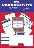 Free productivity planner for men