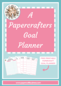 Papercrafters goal planner title