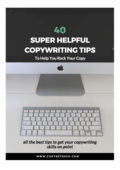 Copywriting tips screenshot