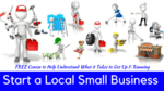 Start a local small business thumbnail teachable