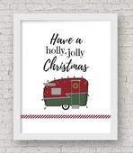 Holly jolly christmas framed copy