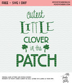 Cutest little clover cut file