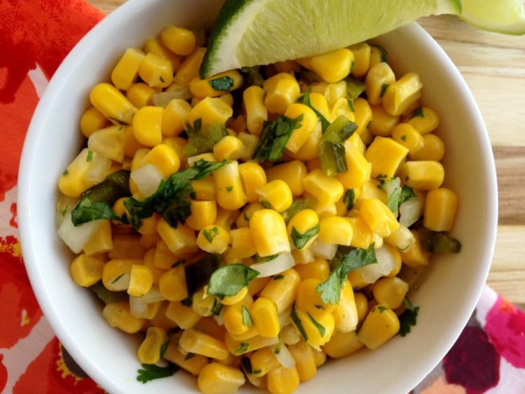 Corn Salsa with Roasted Poblanos