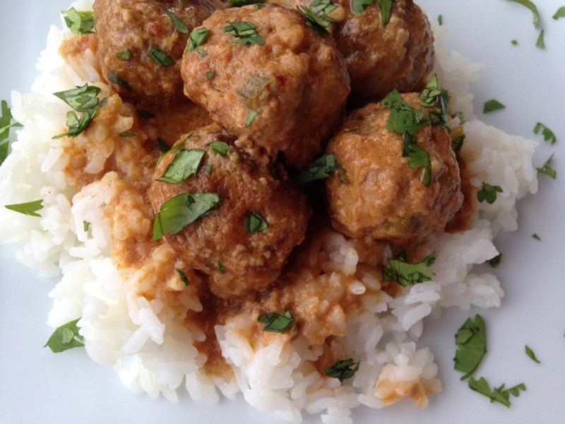Thai Turkey Meatballs - Cooking Up Happiness