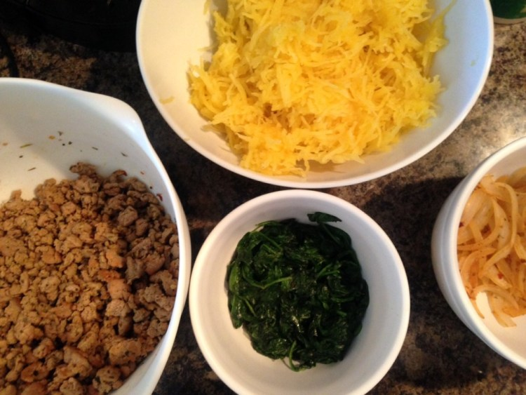 Turkey Spaghetti Squash Lasagna - Cooking Up Happiness