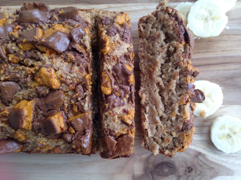 Leftover Halloween Candy Banana Bread