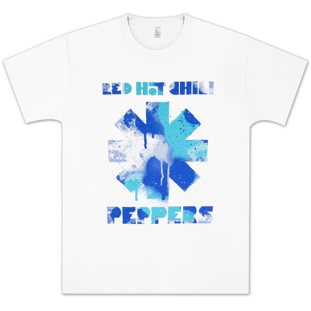 Red Hot Chili Peppers Mosaic Asterisk Girls Juniors Grey Crewneck Sweatshirt