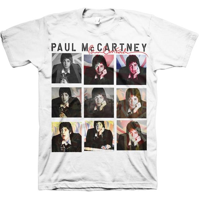 Paul McCartney of the Beatles Nine Jacks Photo Tour T-Shirt